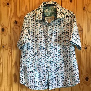 Men's Robert Graham Short Sleeve Shirt XL